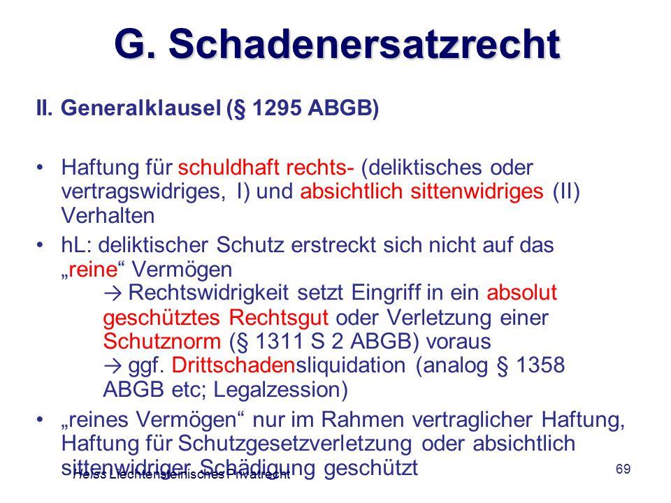 G. Schadenersatzrecht II. Generalklausel (§ 1295 ABGB)