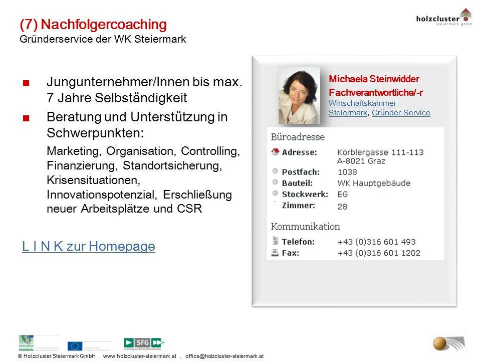 (7) Nachfolgercoaching Gründerservice der WK Steiermark