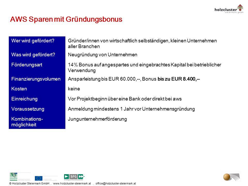 AWS Sparen mit Gründungsbonus
