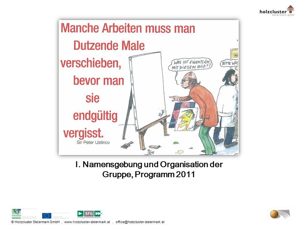 I. Namensgebung und Organisation der Gruppe, Programm 2011