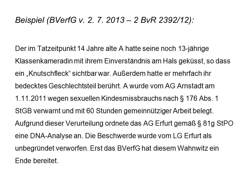 Beispiel (BVerfG v. 2. 7.