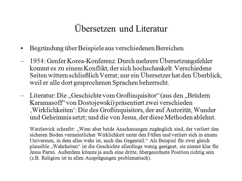 Übersetzen und Literatur