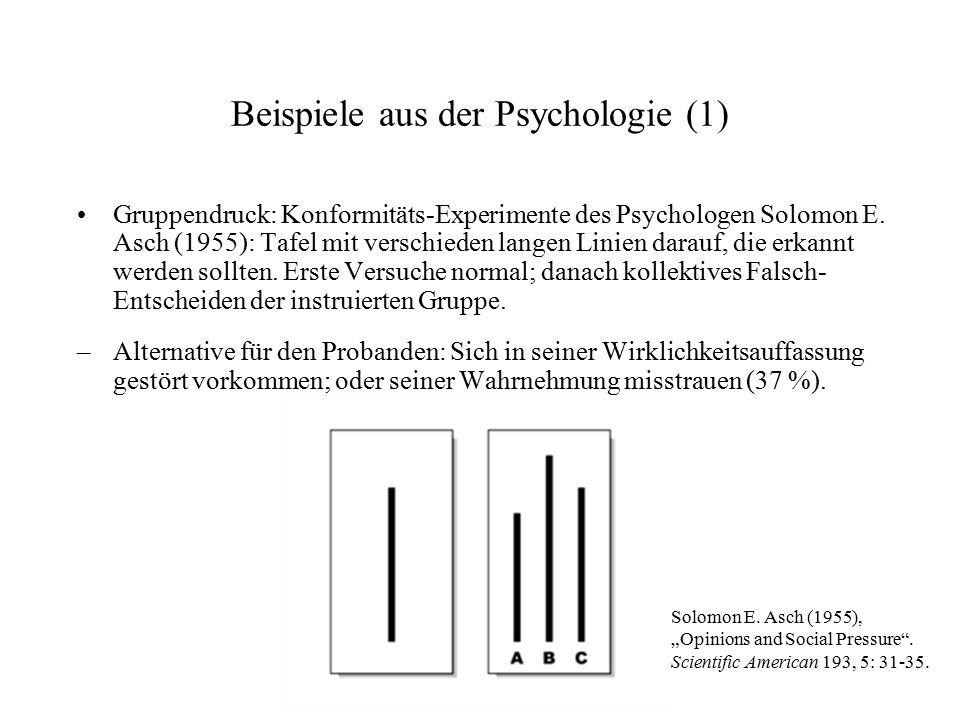 Beispiele aus der Psychologie (1)
