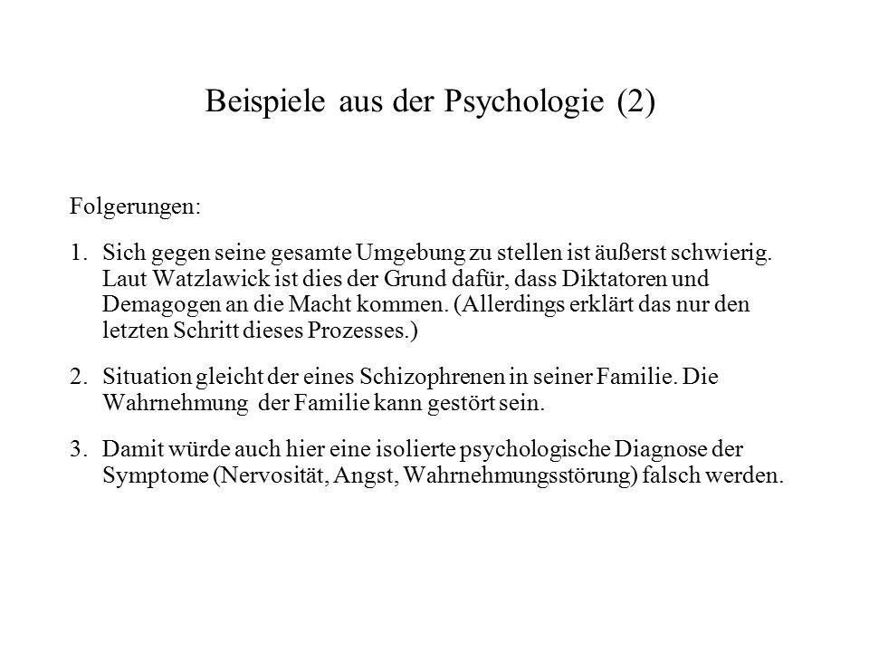 Beispiele aus der Psychologie (2)
