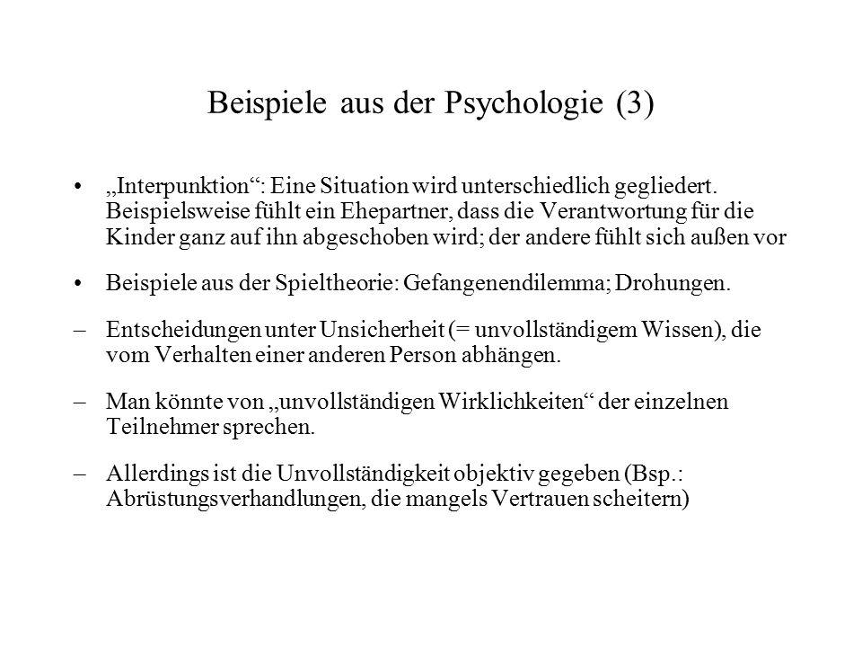 Beispiele aus der Psychologie (3)