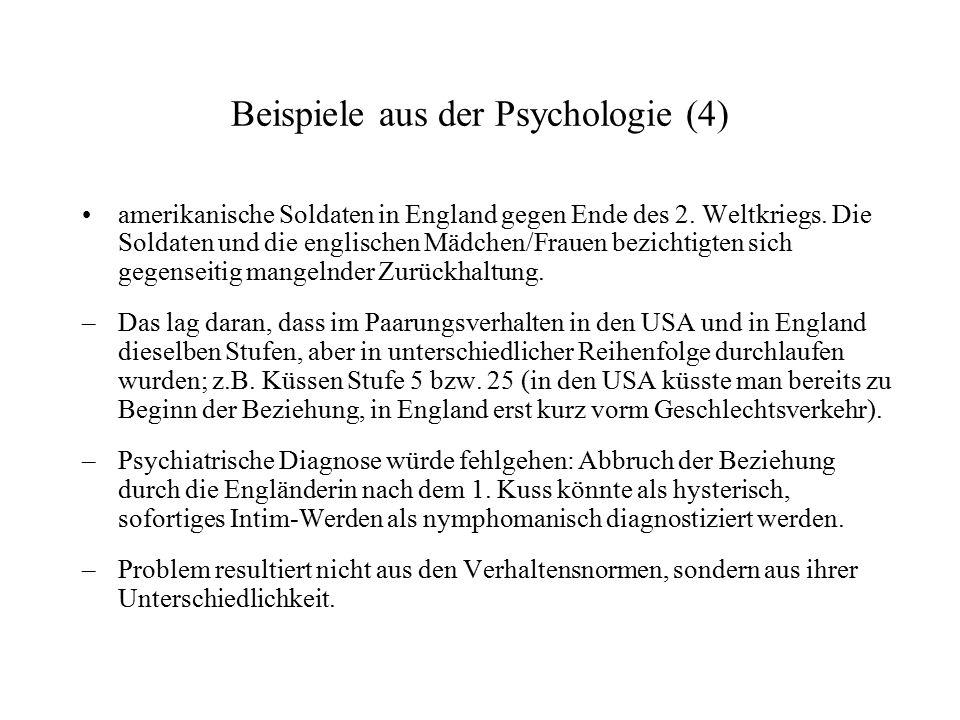 Beispiele aus der Psychologie (4)