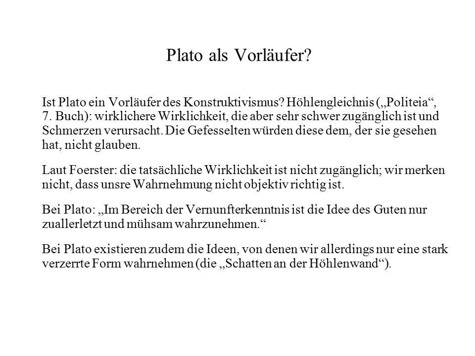Plato als Vorläufer