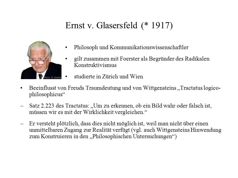 Ernst v. Glasersfeld (* 1917)