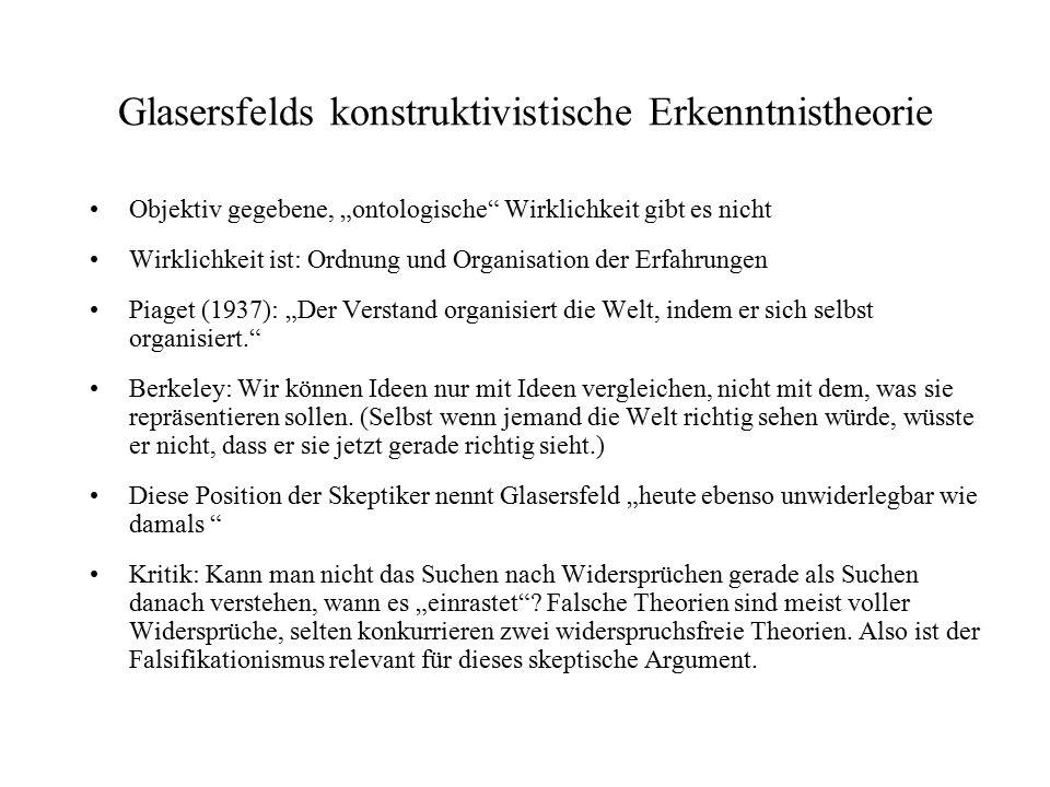 Glasersfelds konstruktivistische Erkenntnistheorie