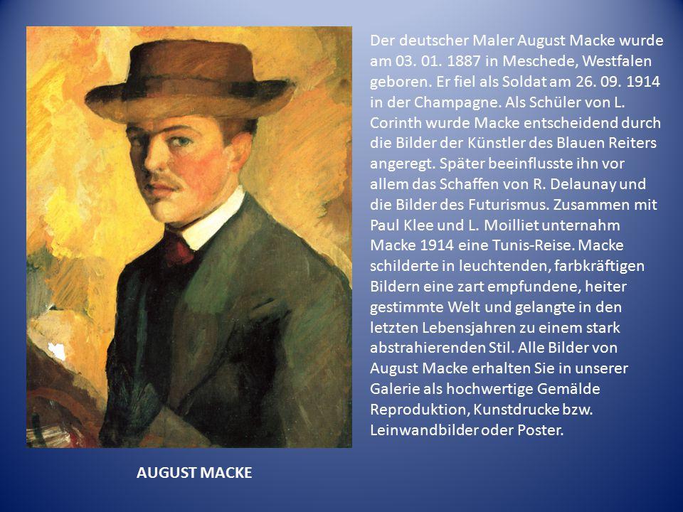 Der deutscher Maler August Macke wurde am 03. 01