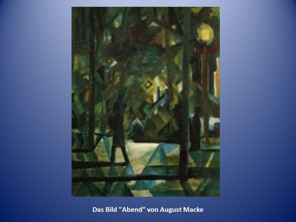 Das Bild Abend von August Macke