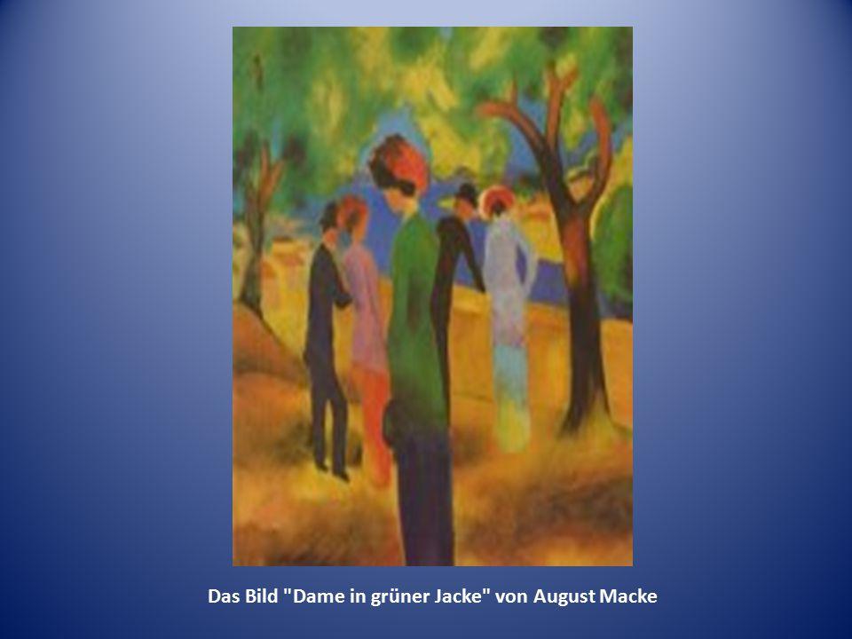 Das Bild Dame in grüner Jacke von August Macke