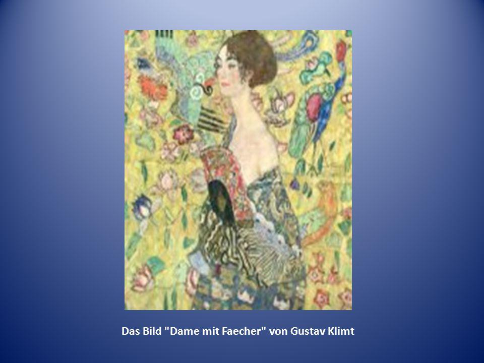 Das Bild Dame mit Faecher von Gustav Klimt