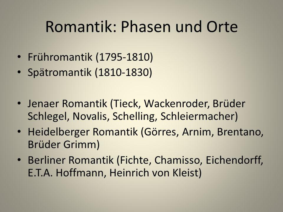 Romantik: Phasen und Orte
