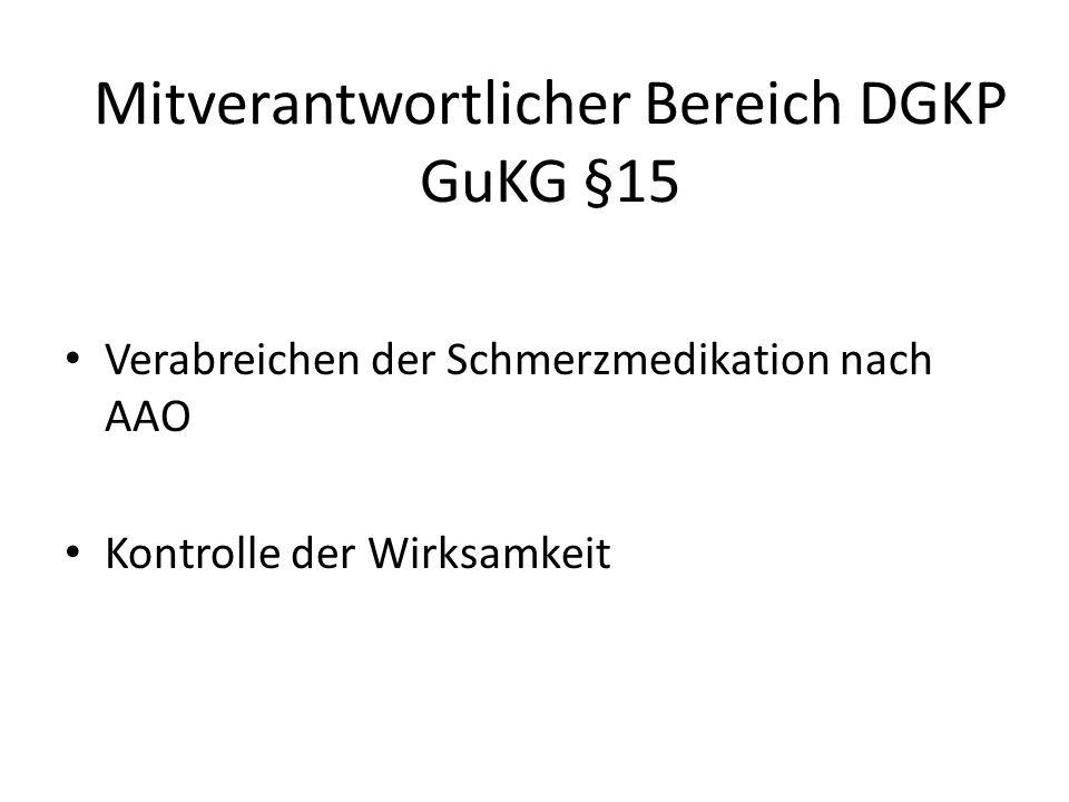 Mitverantwortlicher Bereich DGKP GuKG §15
