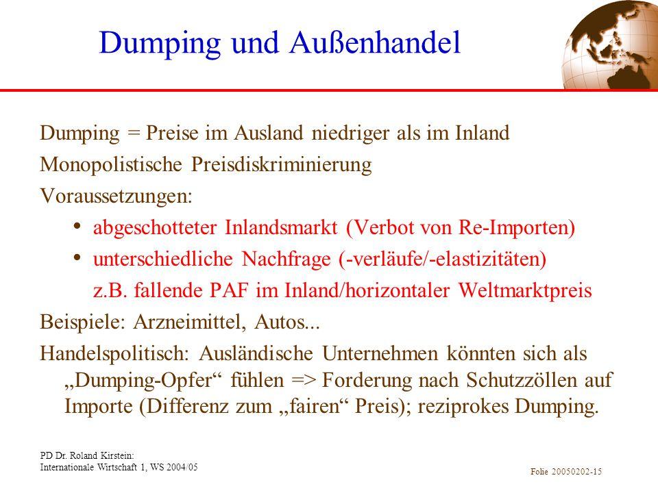 Dumping und Außenhandel