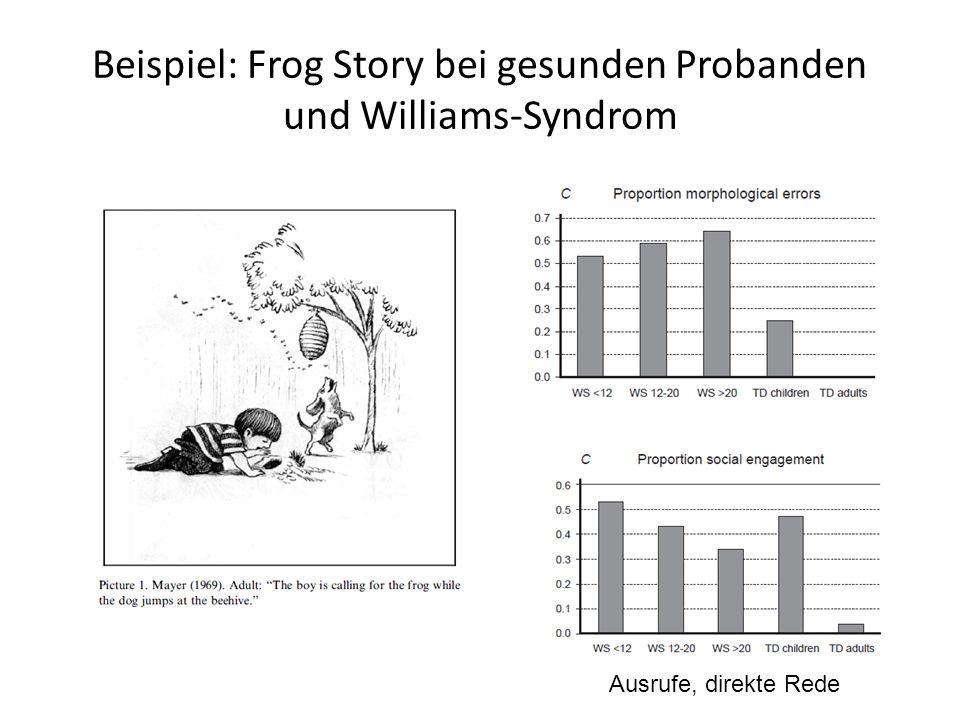 Beispiel: Frog Story bei gesunden Probanden und Williams-Syndrom