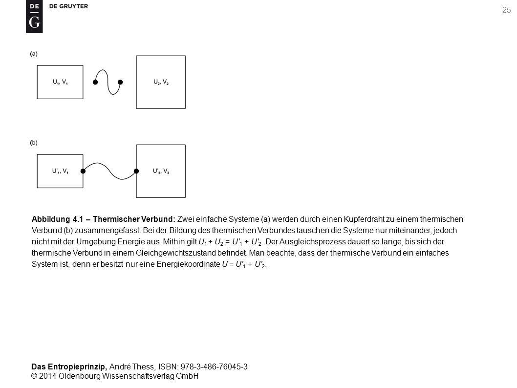 Abbildung 4.1 – Thermischer Verbund: Zwei einfache Systeme (a) werden durch einen Kupferdraht zu einem thermischen Verbund (b) zusammengefasst.