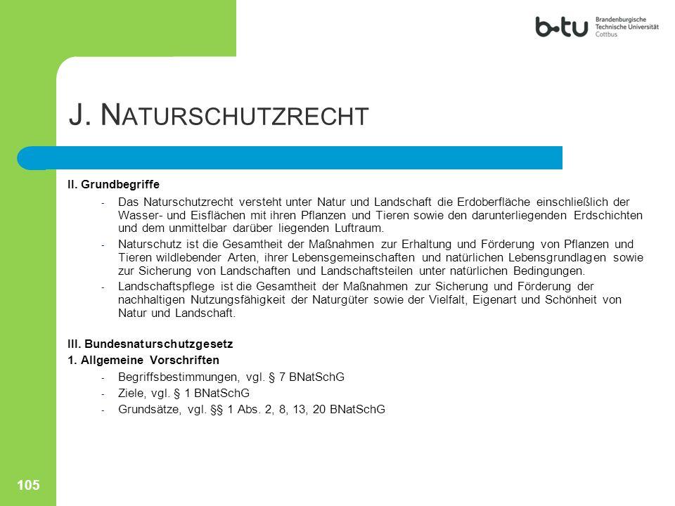 J. Naturschutzrecht II. Grundbegriffe