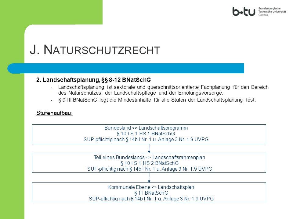 J. Naturschutzrecht 2. Landschaftsplanung, §§ 8-12 BNatSchG