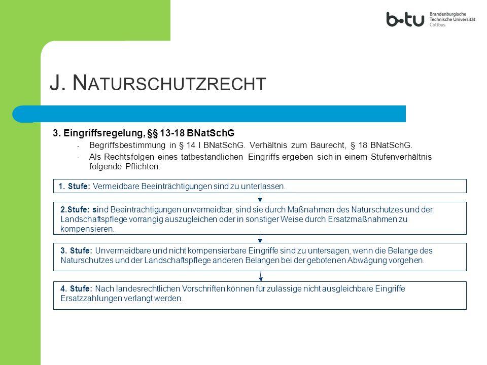 J. Naturschutzrecht 3. Eingriffsregelung, §§ 13-18 BNatSchG