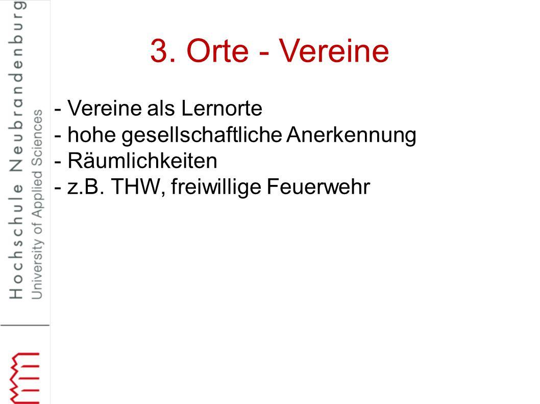 3. Orte - Vereine - Vereine als Lernorte