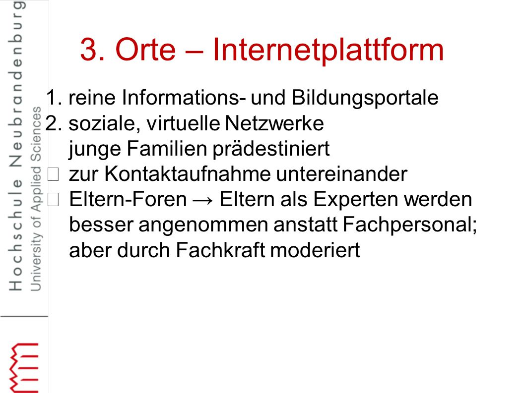 3. Orte – Internetplattform