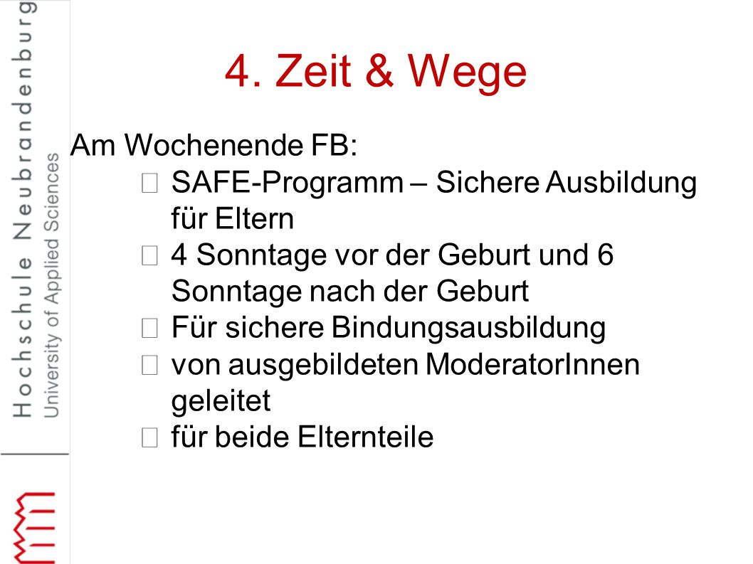 4. Zeit & Wege Am Wochenende FB: