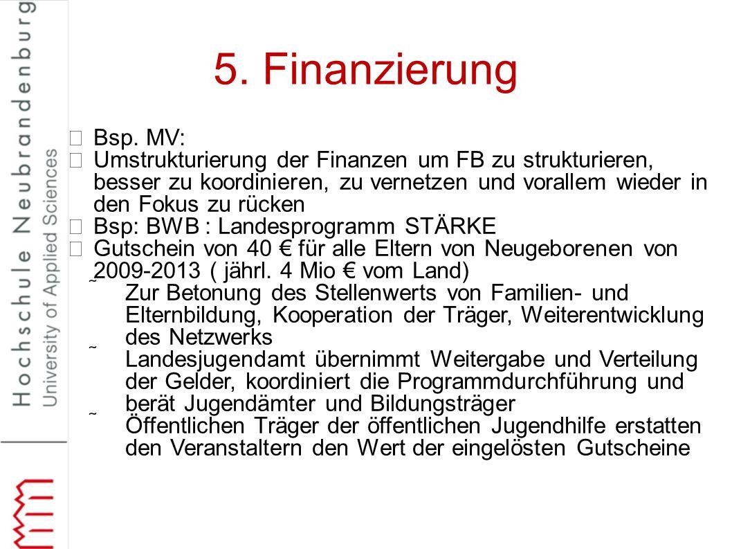 5. Finanzierung Bsp. MV: