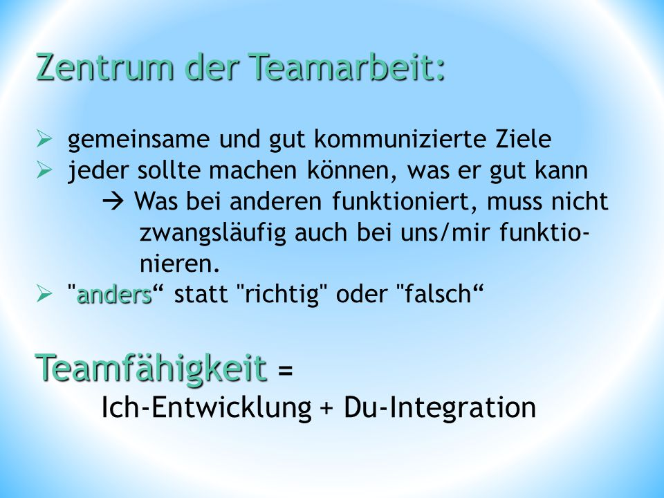 Zentrum der Teamarbeit: