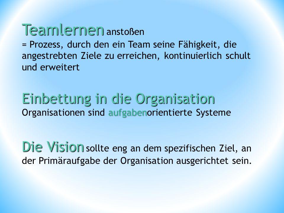 Teamlernen anstoßen Einbettung in die Organisation