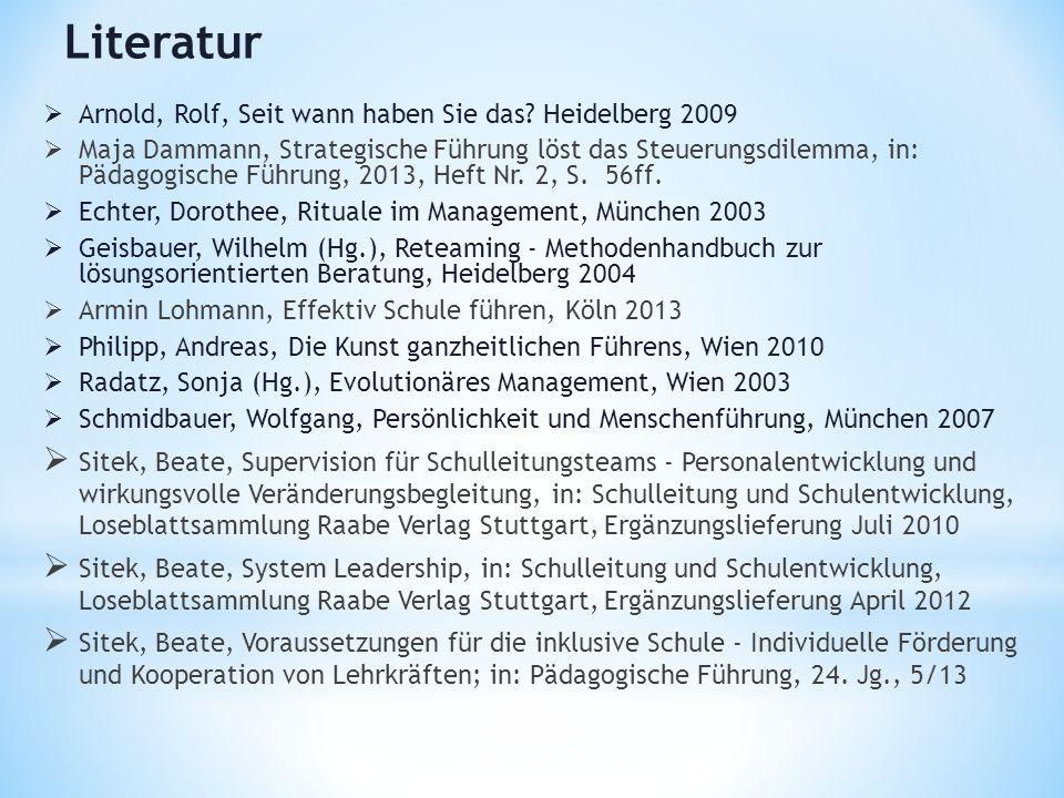 Literatur Arnold, Rolf, Seit wann haben Sie das Heidelberg 2009