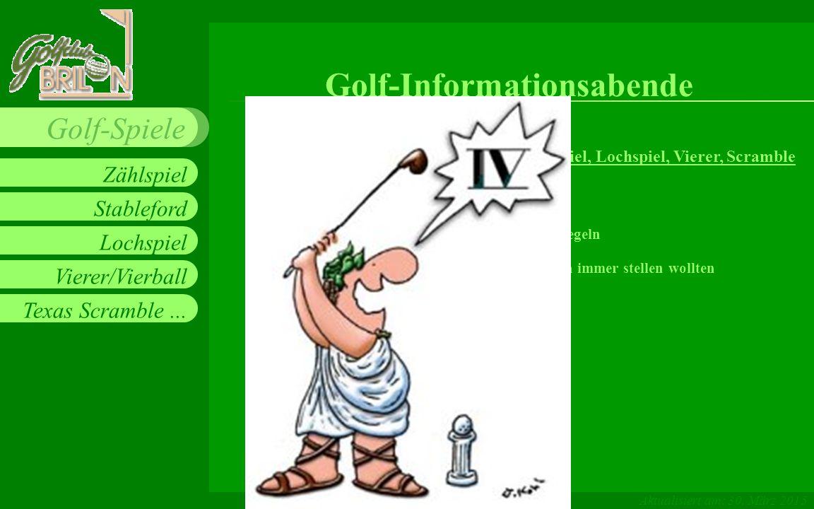 Golf-Informationsabende