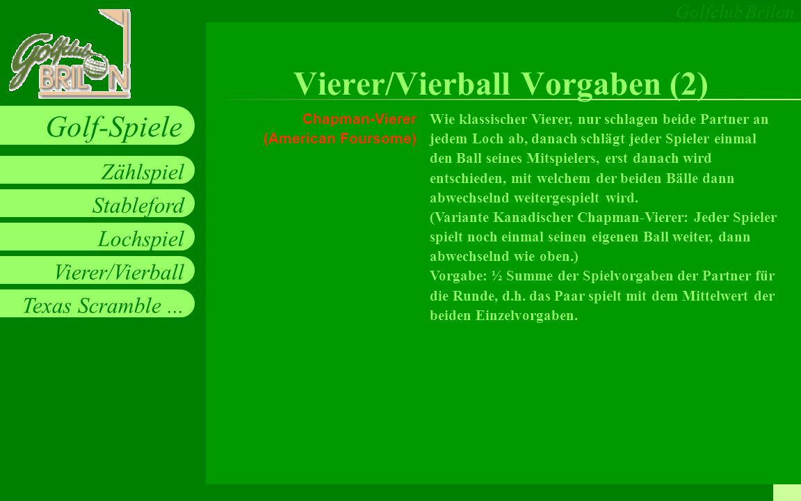 Vierer/Vierball Vorgaben (2)