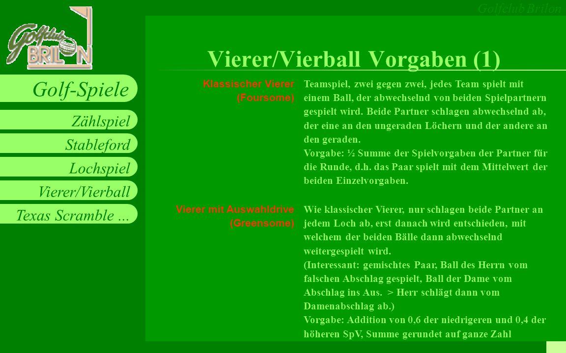 Vierer/Vierball Vorgaben (1)