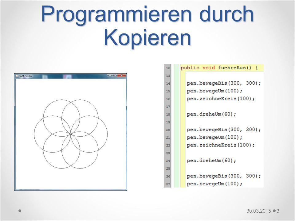 Programmieren durch Kopieren