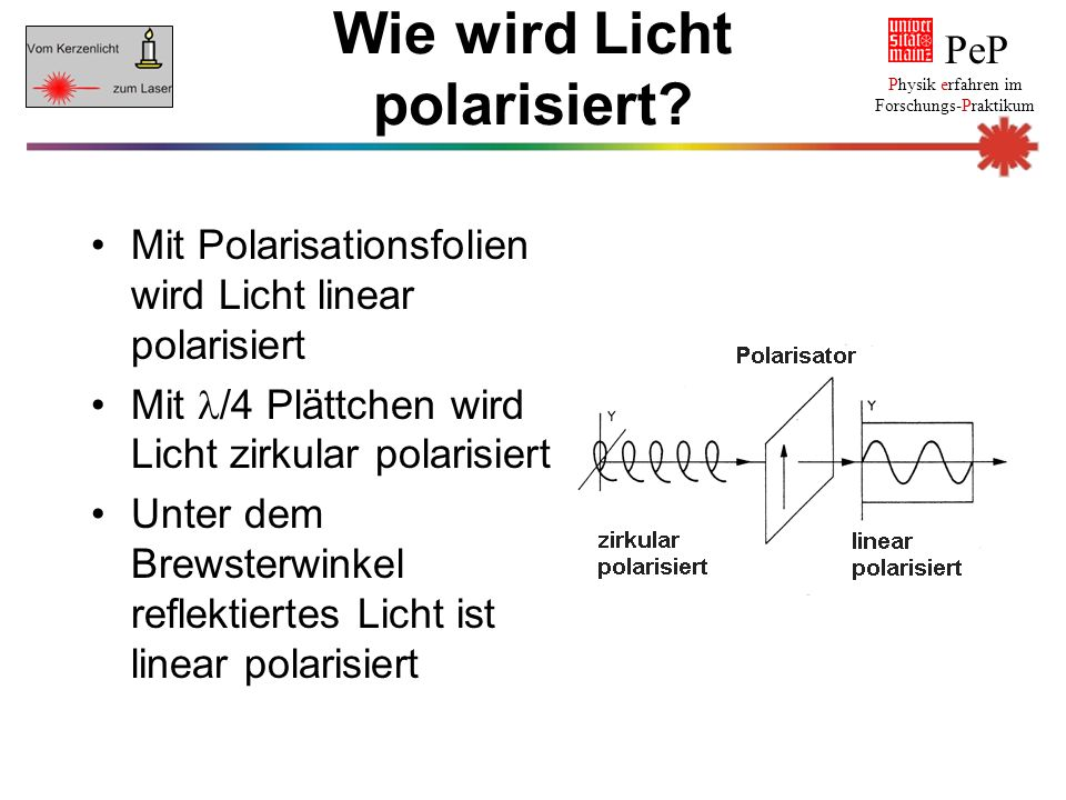 Wie wird Licht polarisiert