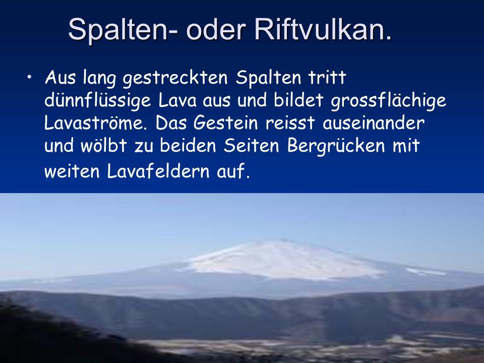 Spalten- oder Riftvulkan.