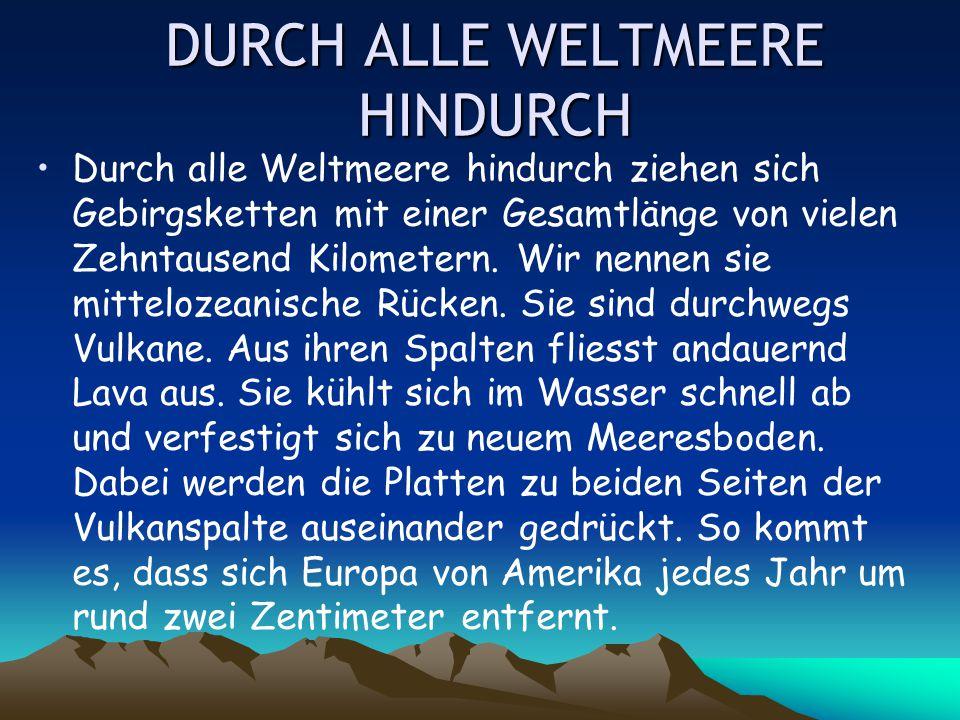 DURCH ALLE WELTMEERE HINDURCH