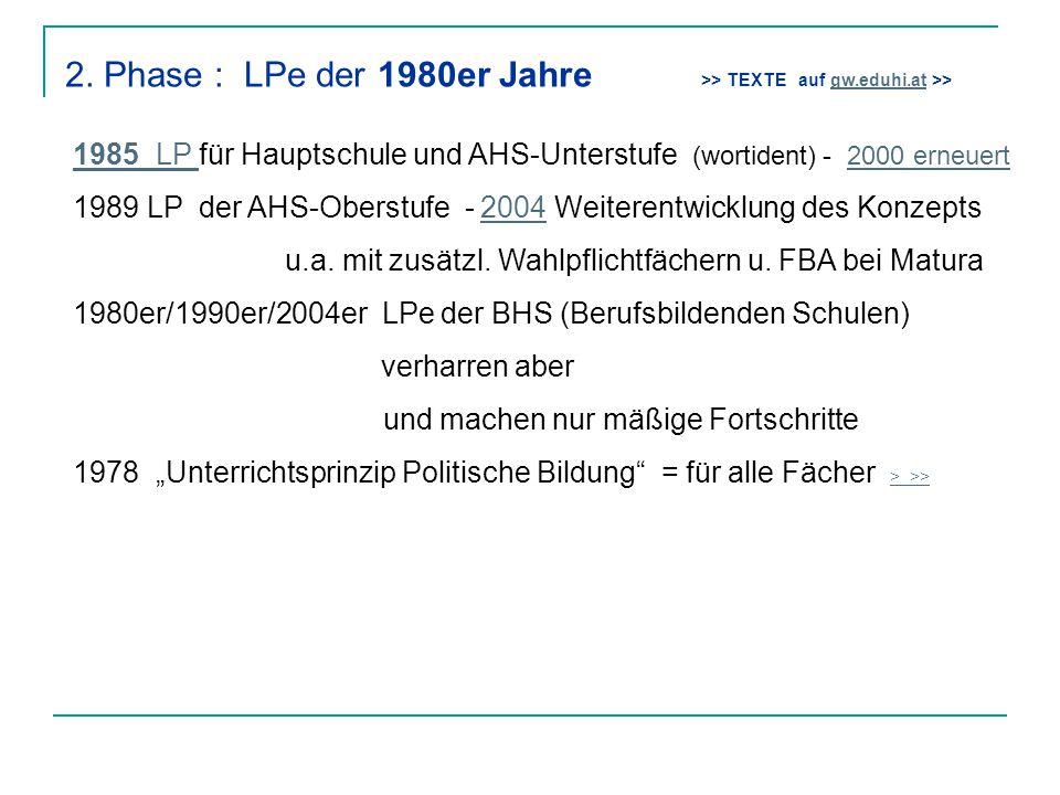 2. Phase : LPe der 1980er Jahre >> TEXTE auf gw. eduhi