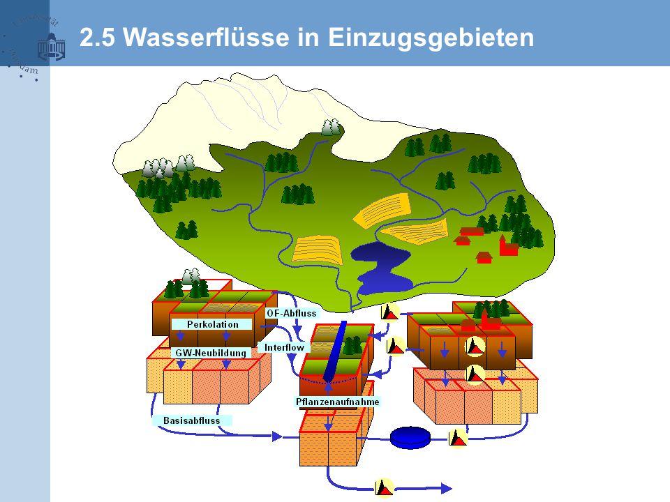2.5 Wasserflüsse in Einzugsgebieten
