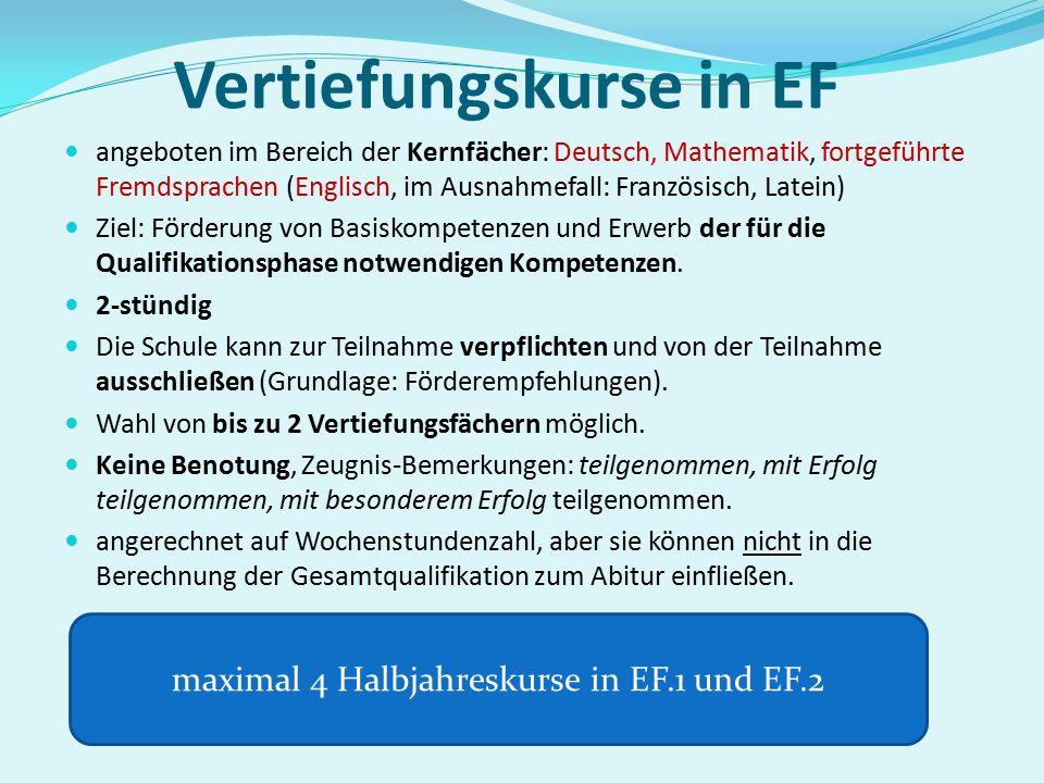 Vertiefungskurse in EF