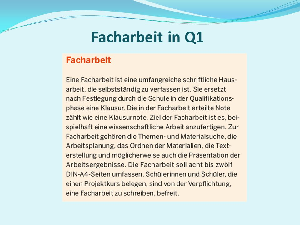 Facharbeit in Q1