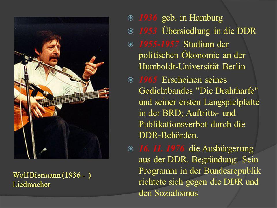 1953 Übersiedlung in die DDR