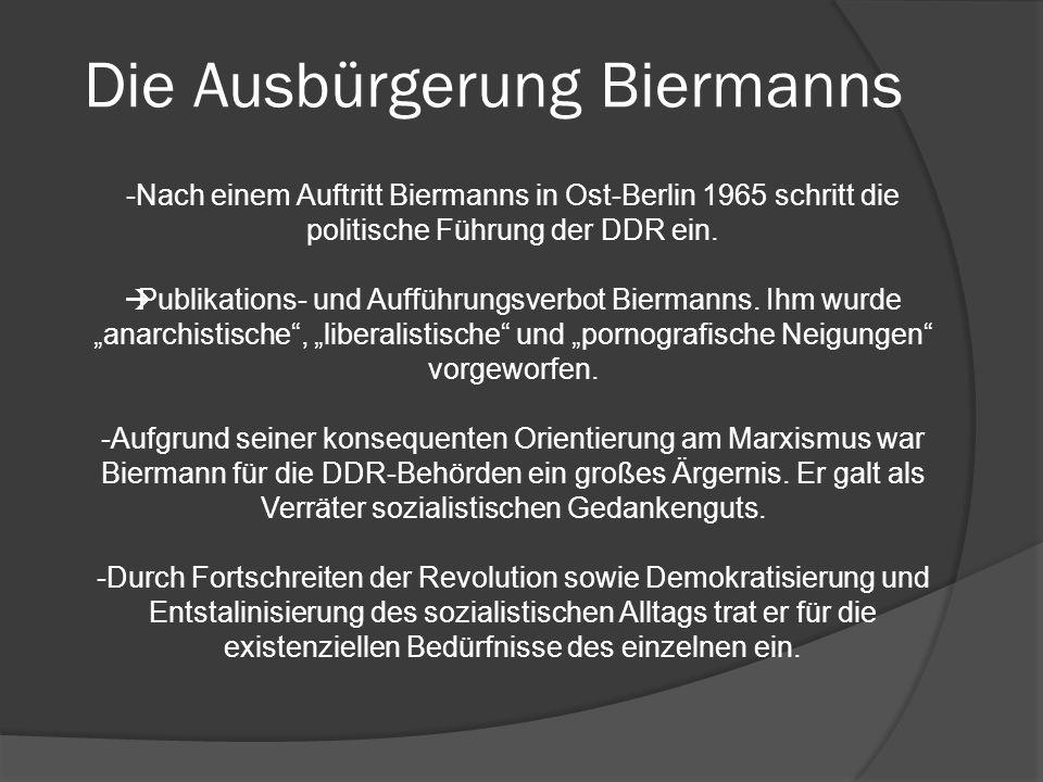 Die Ausbürgerung Biermanns