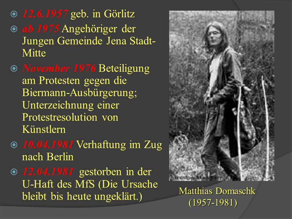 ab 1975 Angehöriger der Jungen Gemeinde Jena Stadt-Mitte