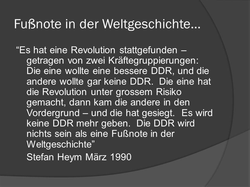 Fußnote in der Weltgeschichte...