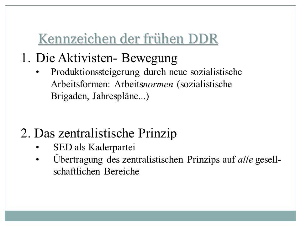 Kennzeichen der frühen DDR
