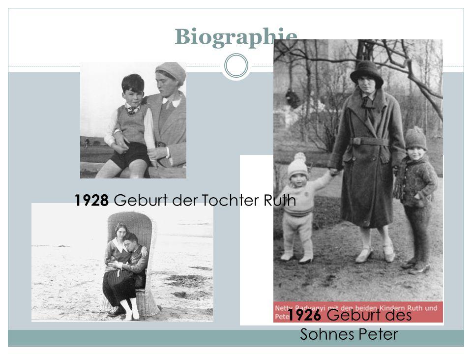 1926 Geburt des Sohnes Peter
