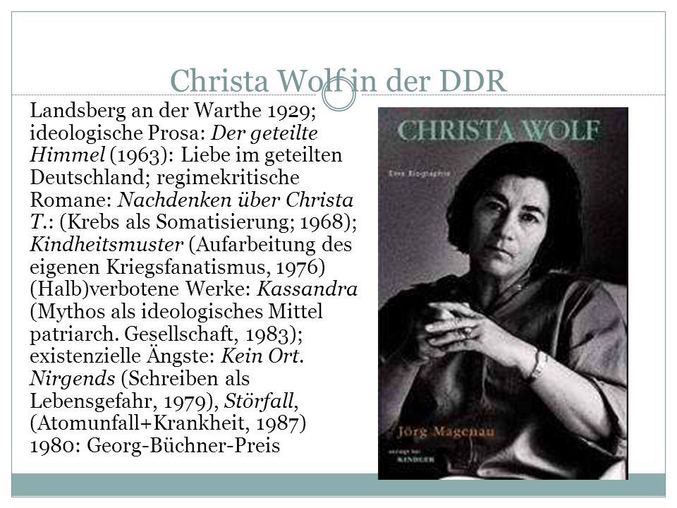 Christa Wolf in der DDR